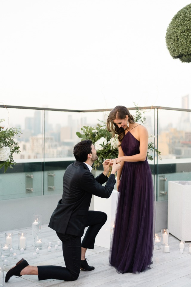 Glam rooftop proposal idea in Toronto