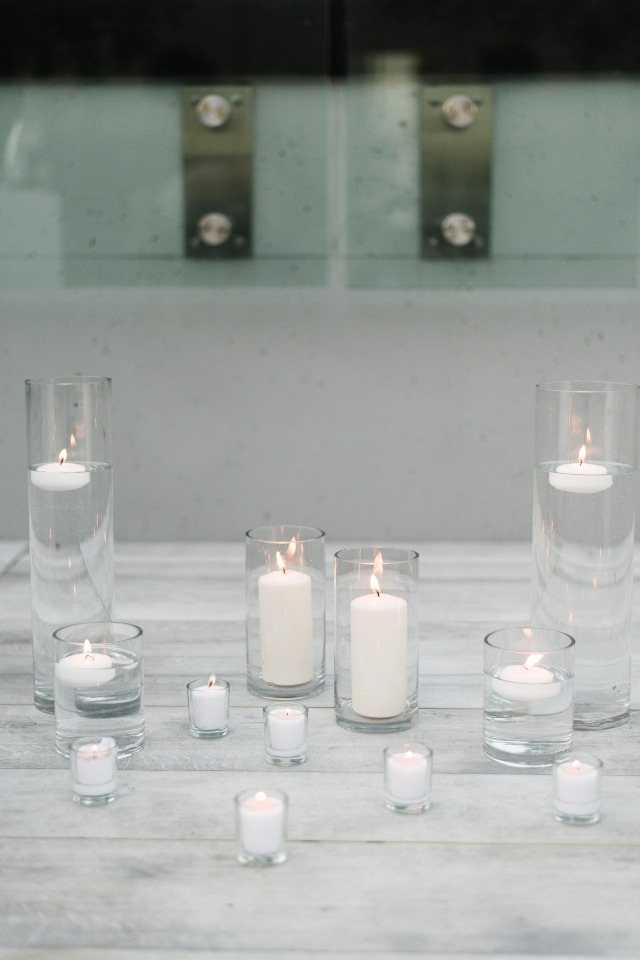 White candles always look beautiful