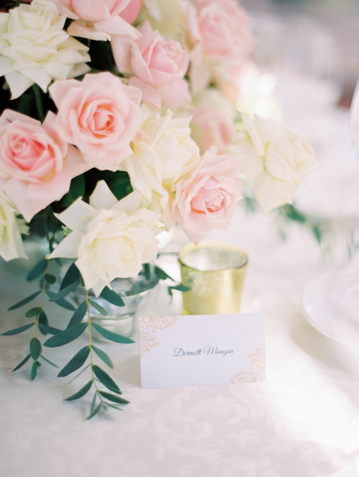 formal place cards at each place setting