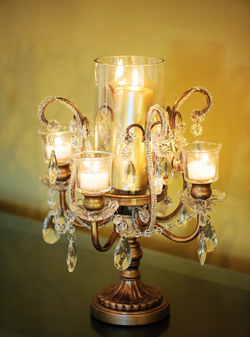 Opulent Treasures Bouquet Vase Candleholder create gorgeous wedding table lighting accents for your wedding