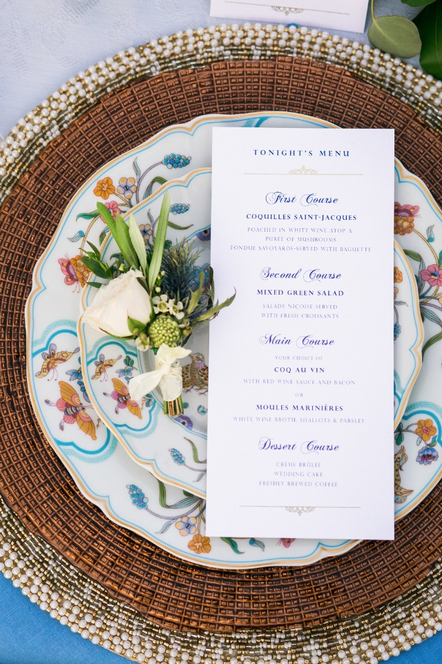Regal French wedding ideas