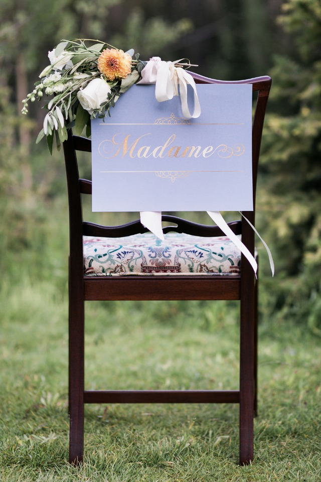 """Madame"" chair sign"