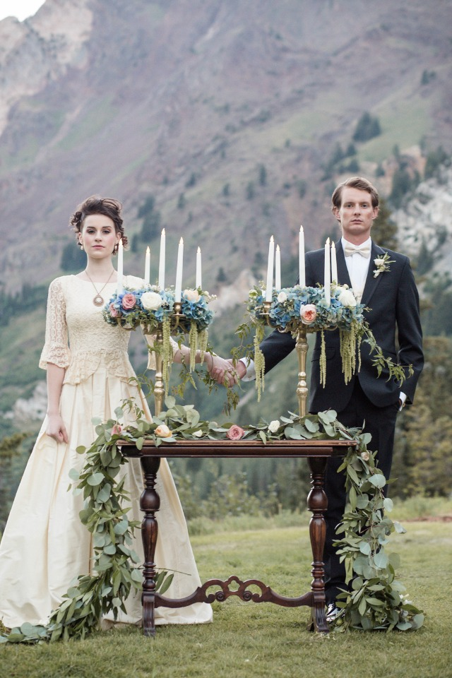 Regal French inspired ceremony in Utah