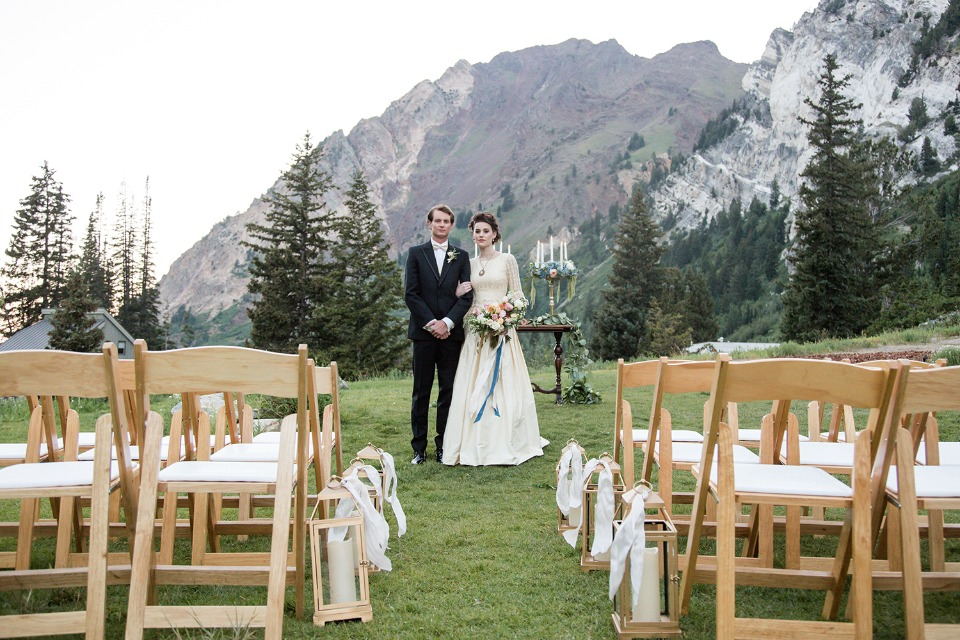 French vintage ceremony in the mountains of Utah