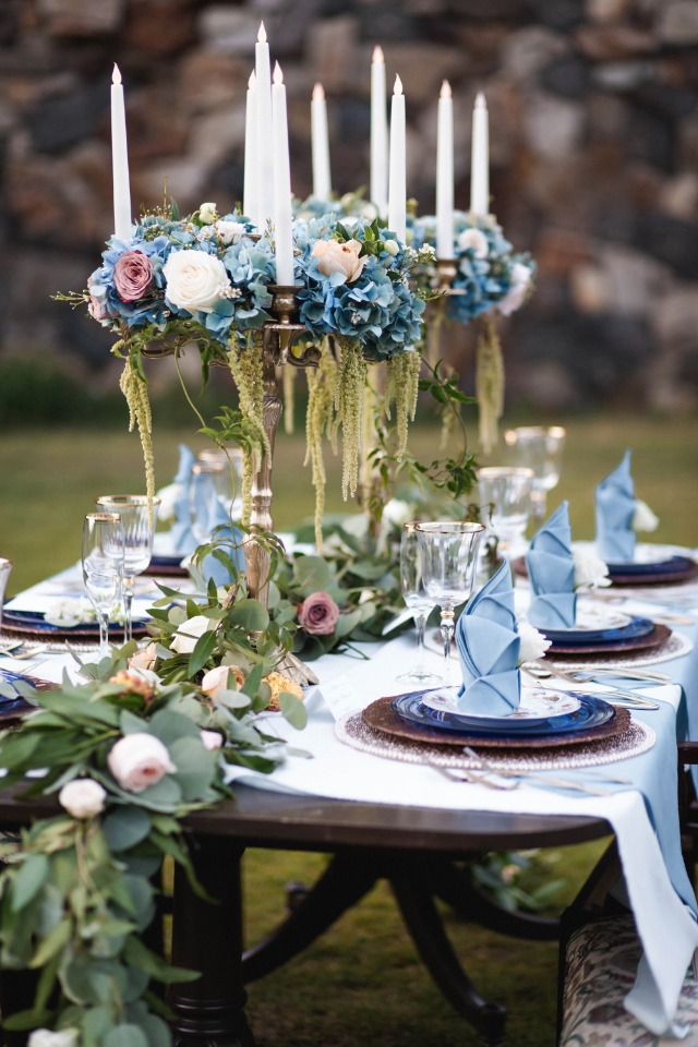 Regal French tablescape