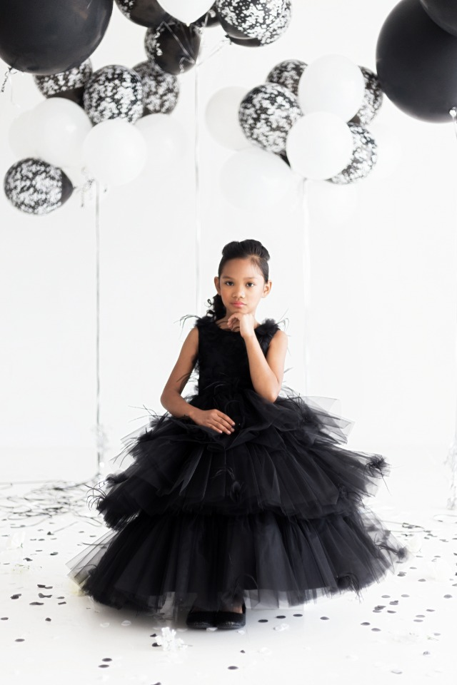 tulle and feathers for your flower girl