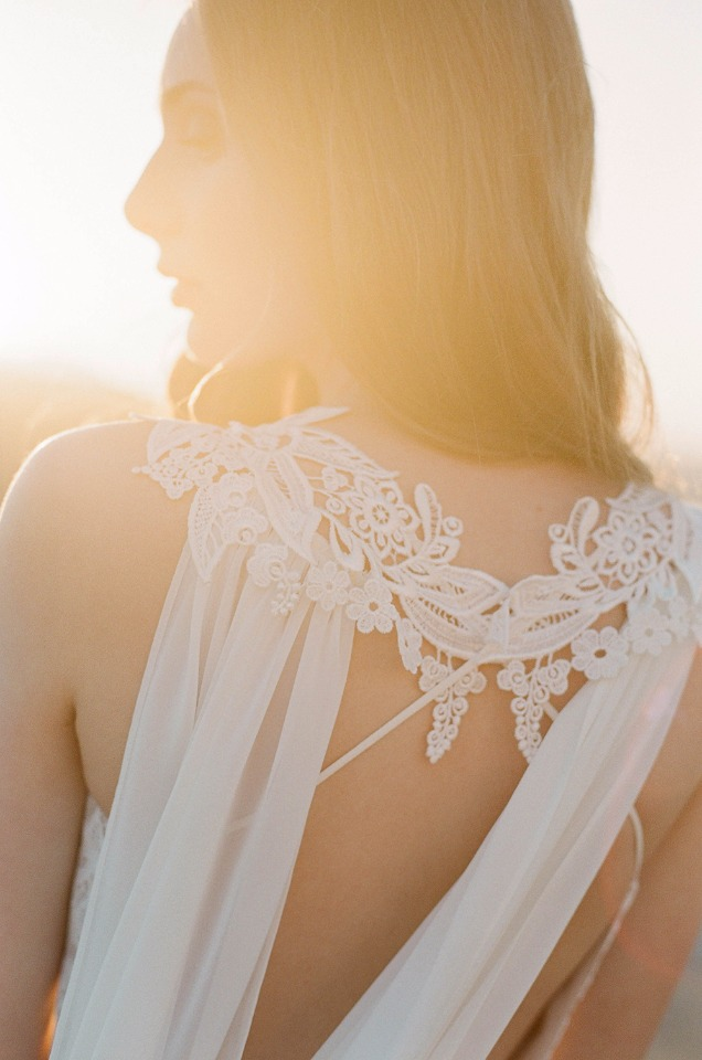 unique back detail on this wedding dress from Claire Pettibon