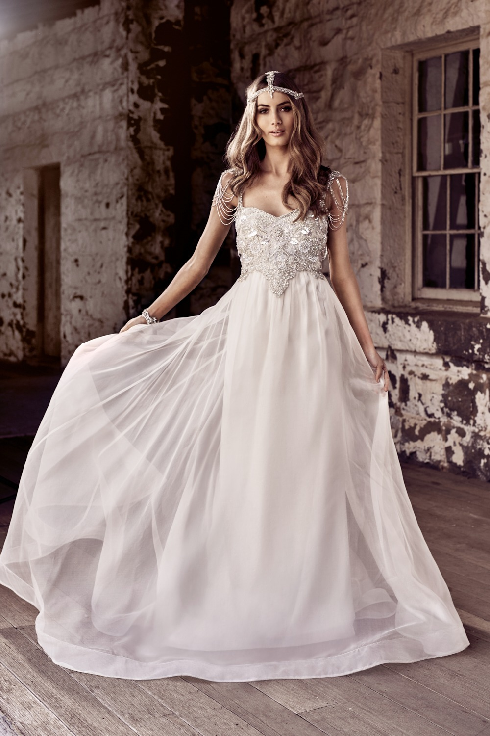 romantic boho wedding dress