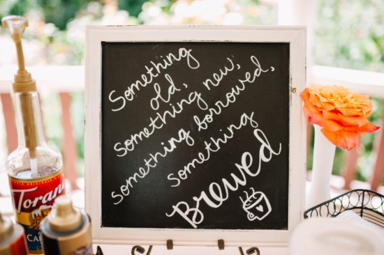 something brewed wedding sign for your coffee bar