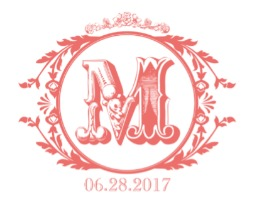 Vintage Letter Free Printable Wedding Monogram