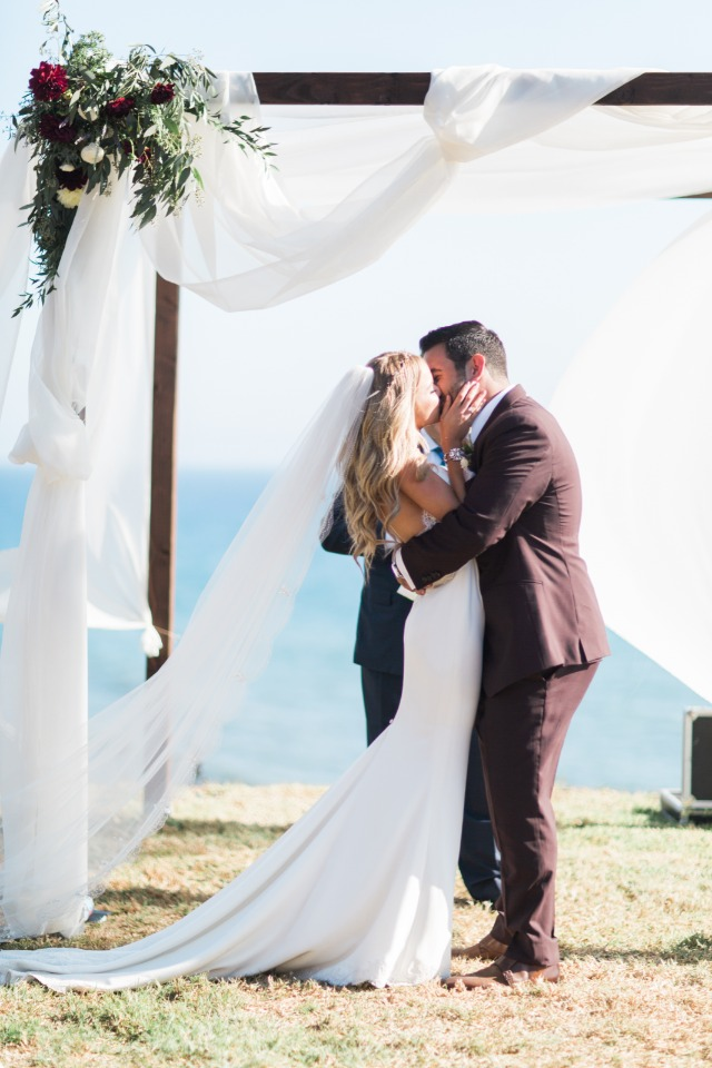 sealing the vows with a kiss