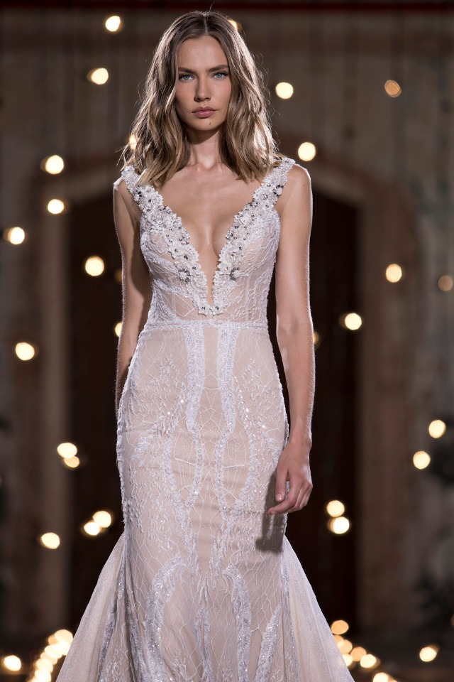 plunging neckline wedding dress collection
