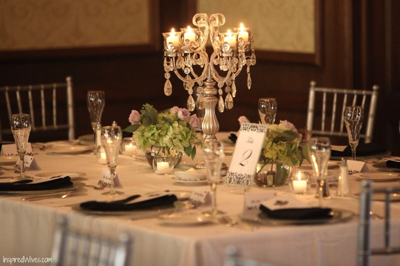 Beautiful & Elegant Wedding Tables with Candelabras by Opulent Treasures