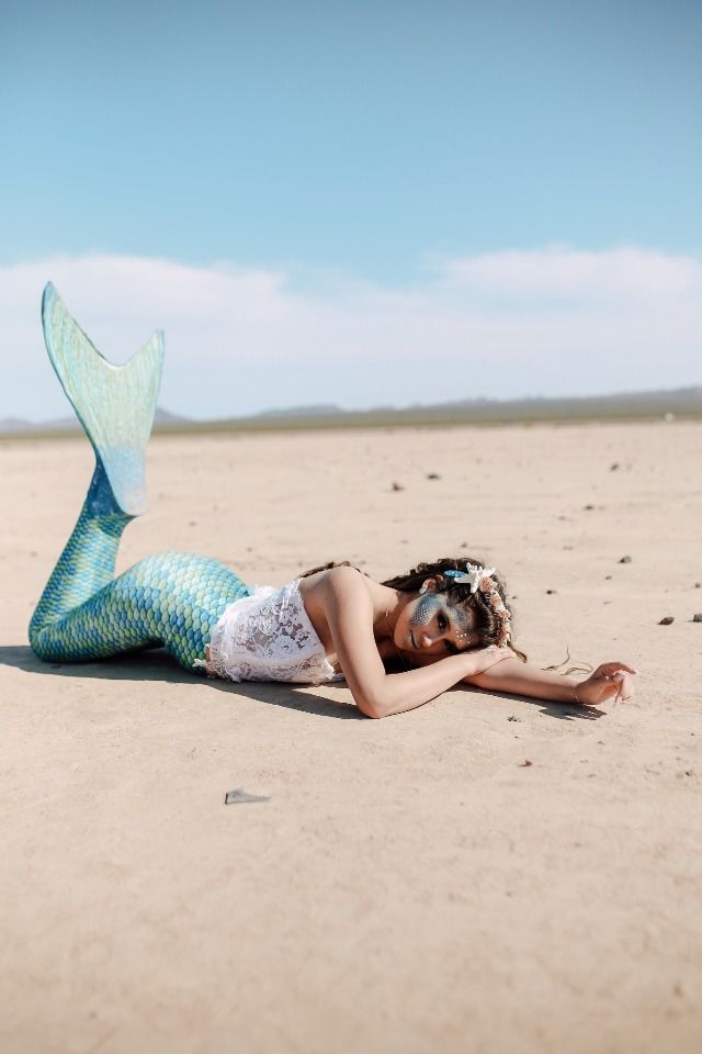 a mermaid out of water