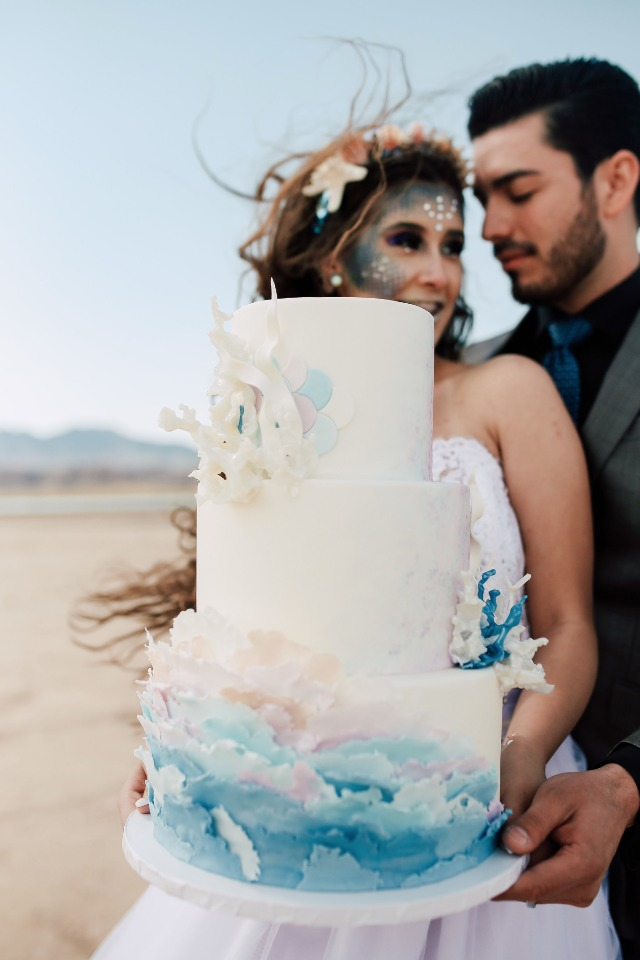 ocean inspired wedding cake