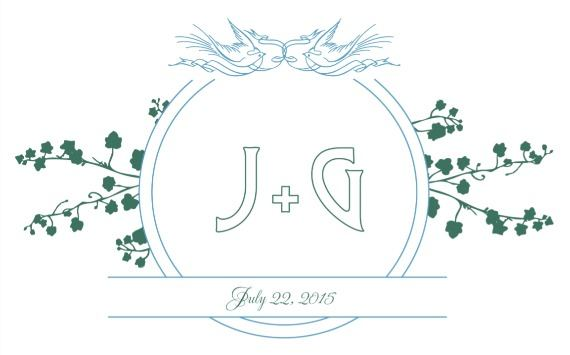 Print: Birds and Banner Free Printable Wedding Monogram