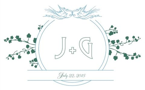 Birds and Banner Free Printable Wedding Monogram