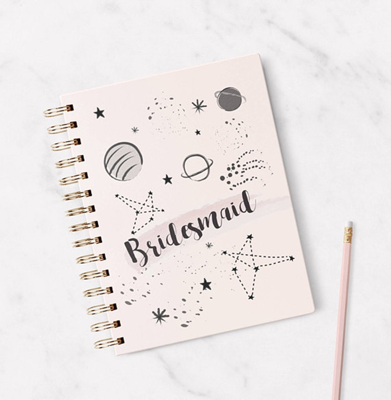 Miss Design Berry's bridesmaid gift notebook is the perfect way to propose to your bridesmaid or say thank you for being such a special