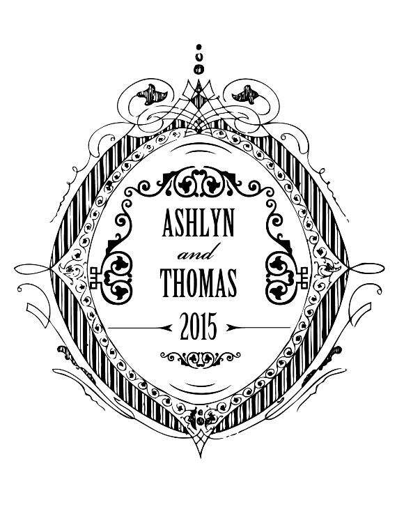 Print: Formal Crest Free Printable Wedding Monogram