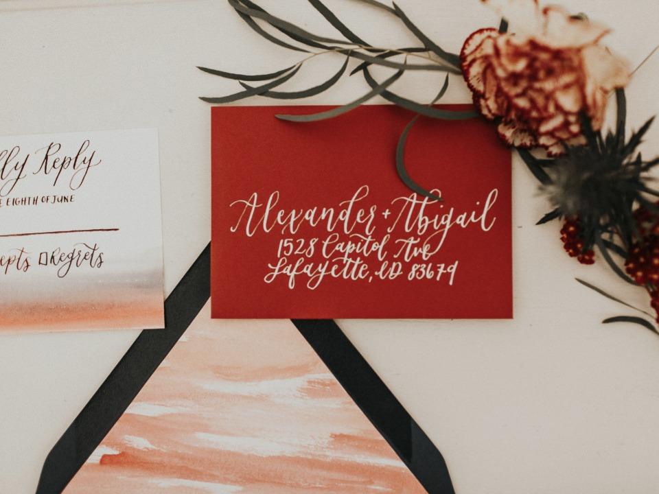 pretty calligraphy for weddings