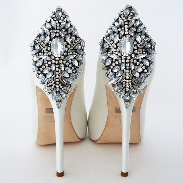 The wedding shoes brides obsess over. Kiara by Badgley Mischka. Walk down the aisle in style. (available in ivory too)
