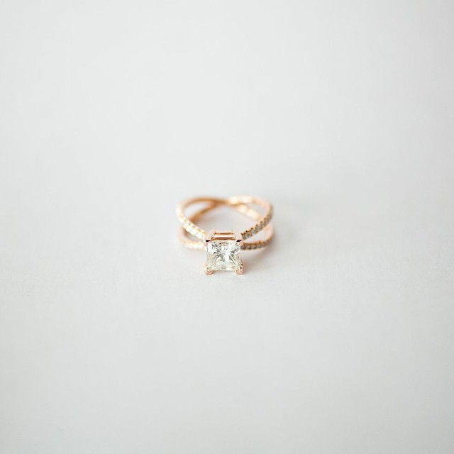 Custom engagement ring designed by Rock For Her