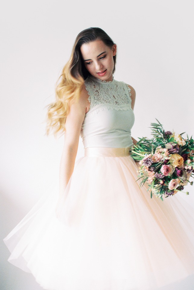 Chic bridal look