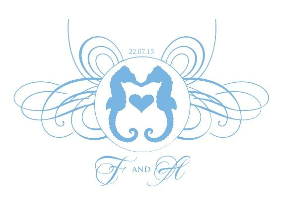 Print: Seahorse Free Printable Wedding Monogram