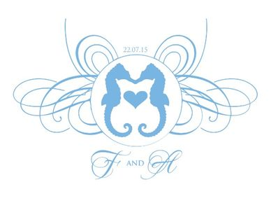 Seahorse Free Printable Wedding Monogram
