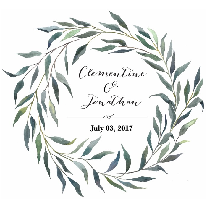 Print: Eucalyptus Wreath Free Printable Monogram
