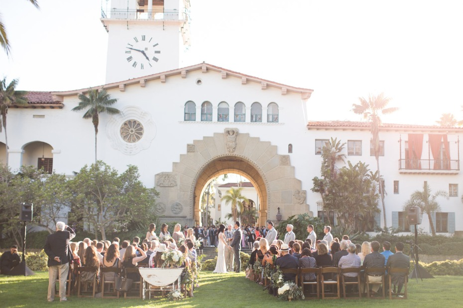 Chic outdoor wedding in Santa Barbara