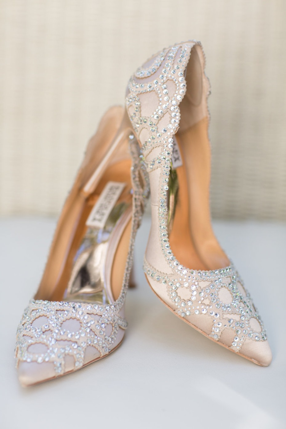 Sparkly heels for the bride