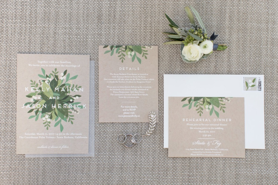Modern nature inspired invites
