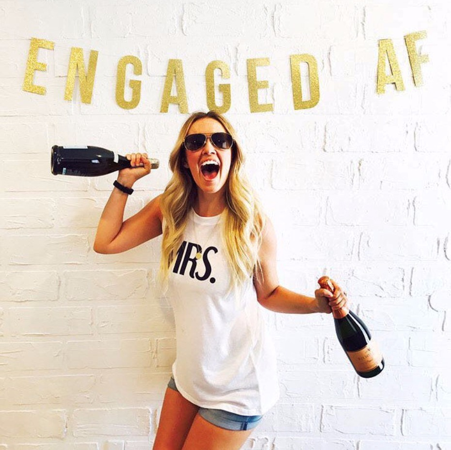 Engaged AF Bachelorette Party Banner