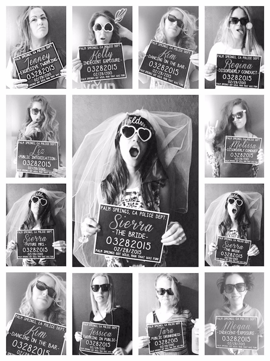 Bachelorette Party Mugshot Signs