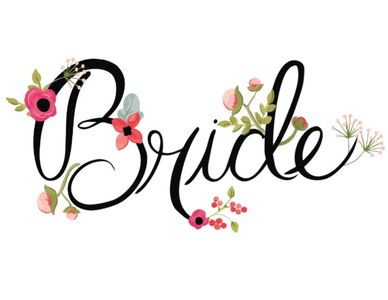 Floral Bride and Groom Free Printable Wedding Chair Signs