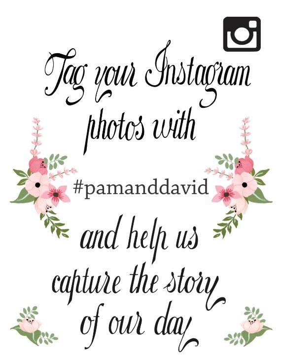 Instagram Hashtag Free Printable Wedding Signs