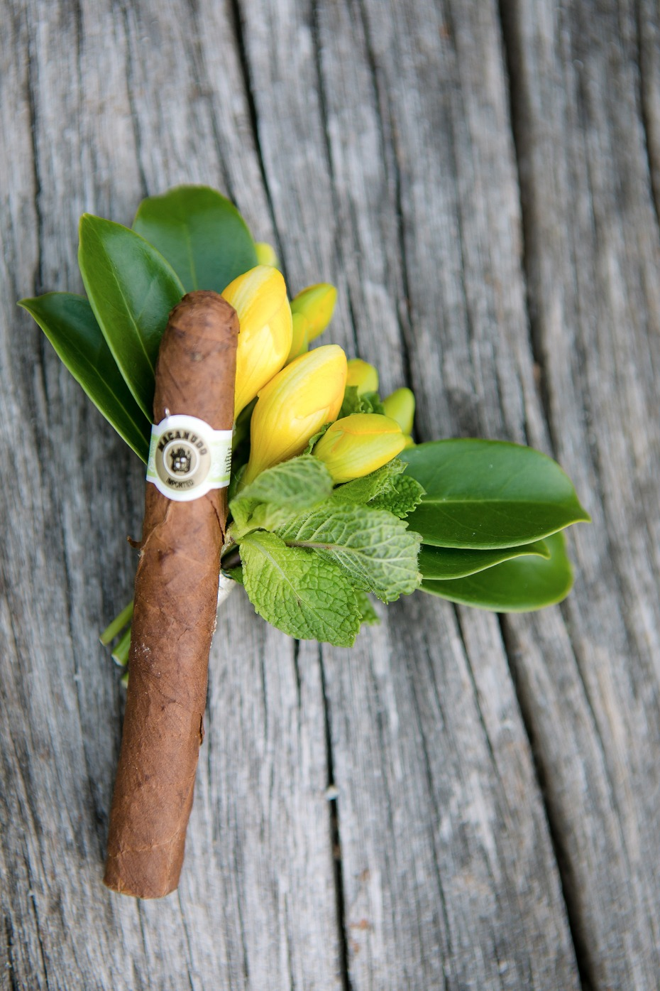 cuban cigar wedding boutonniere