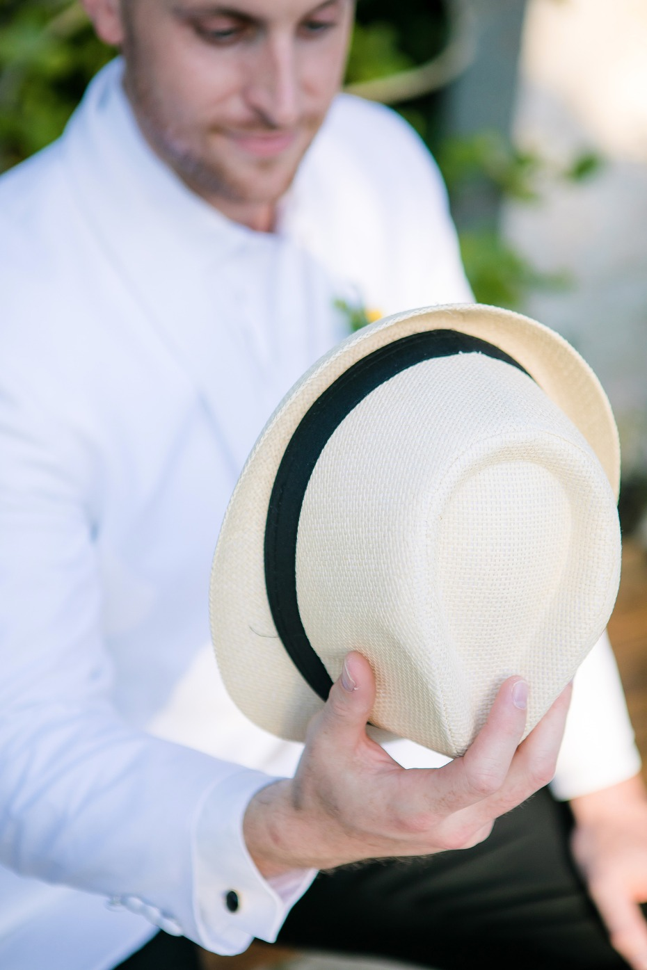 fedora for your groom