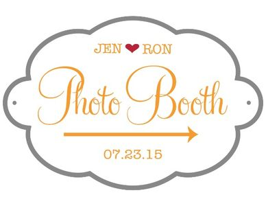 Free Photobooth Wedding Sign