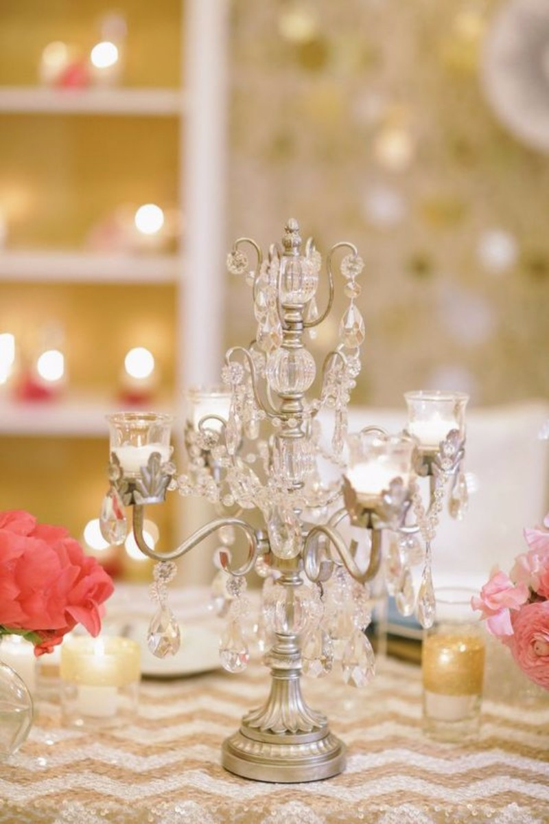 Wedding Reception Inspiration ~ Create elegant tables with Chandelier Candelabras by Opulent Treasures
