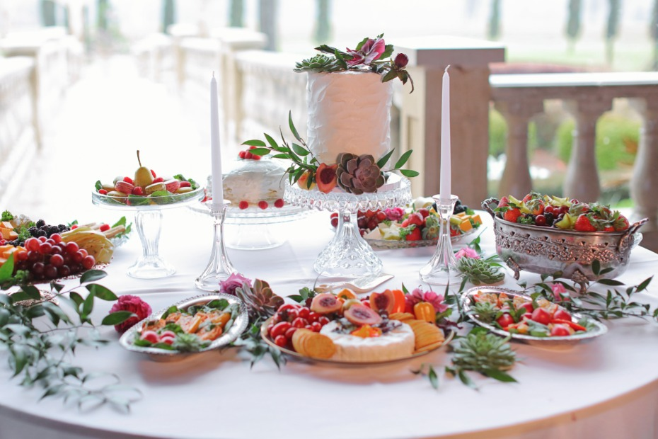 Colorful dessert table