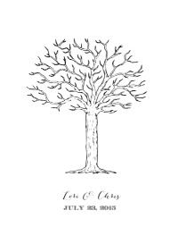 tree thumbprint guestbook