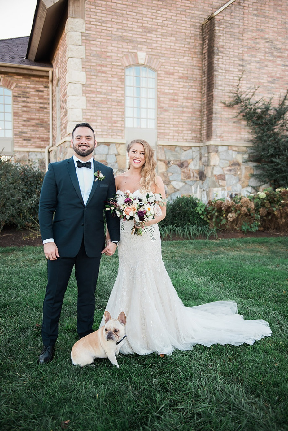 Beautiful couple and pup