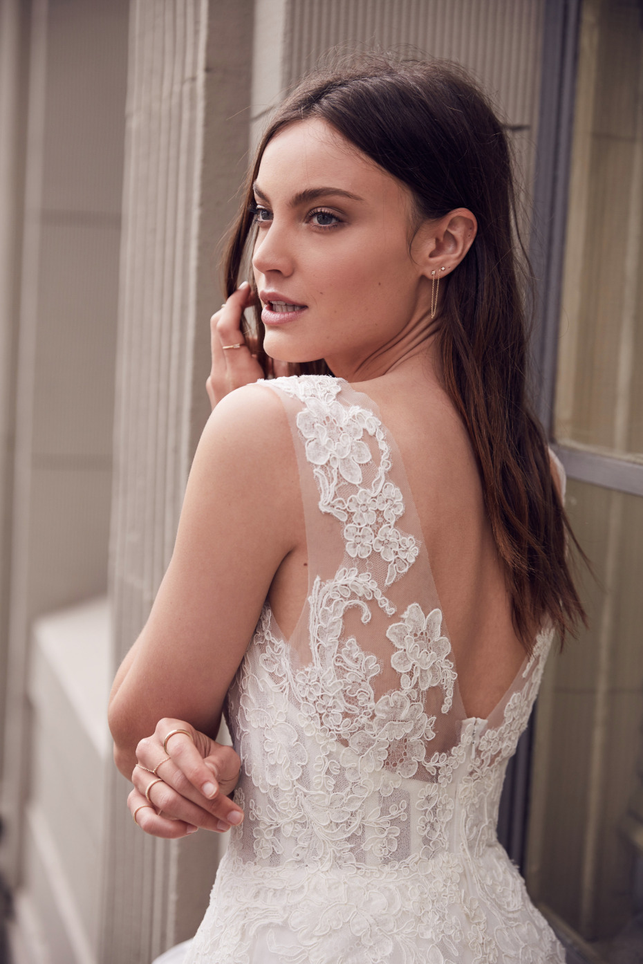 gorgeous lace wedding gown from Floravere
