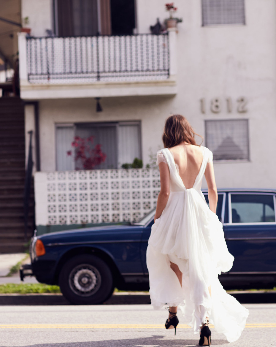 Modern and hip wedding dress from Floravere