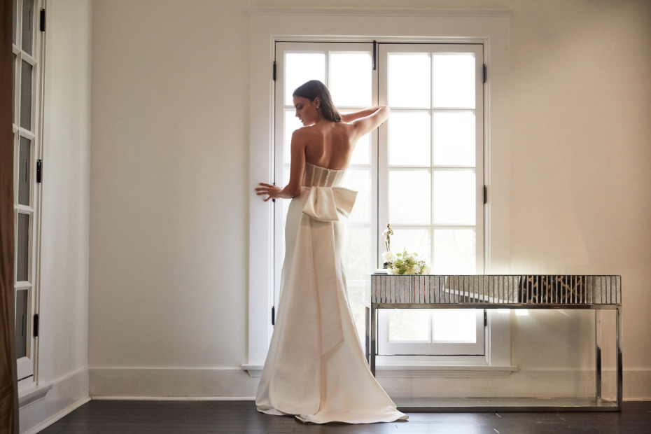 structured wedding gown from Floravere