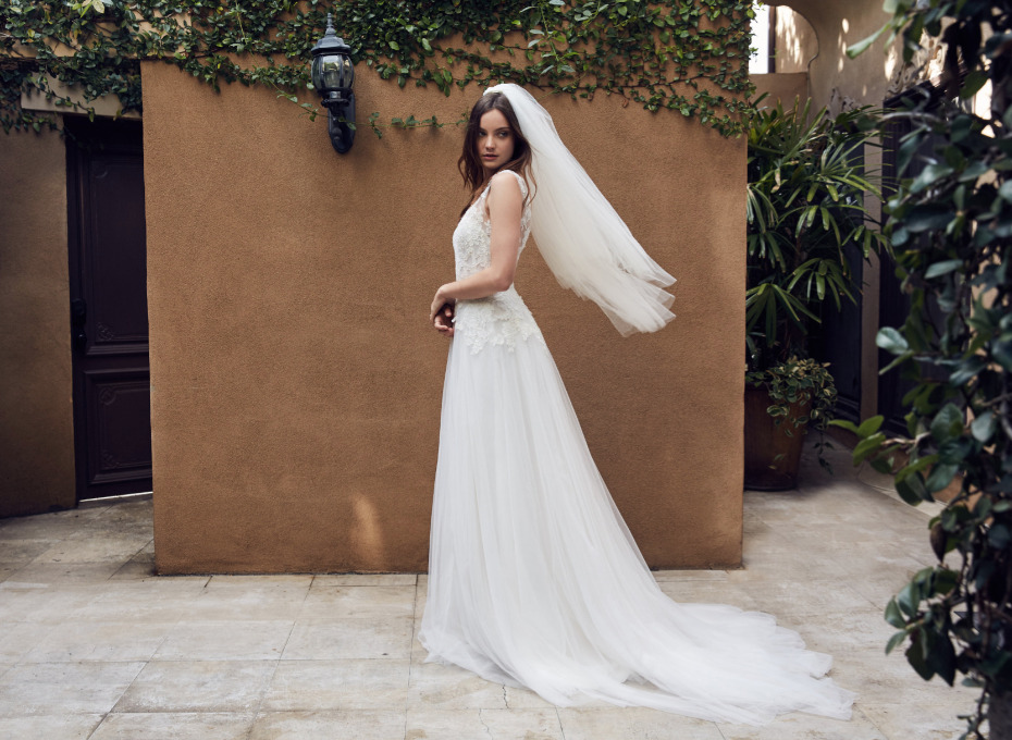 romantic wedding gown from Floravere