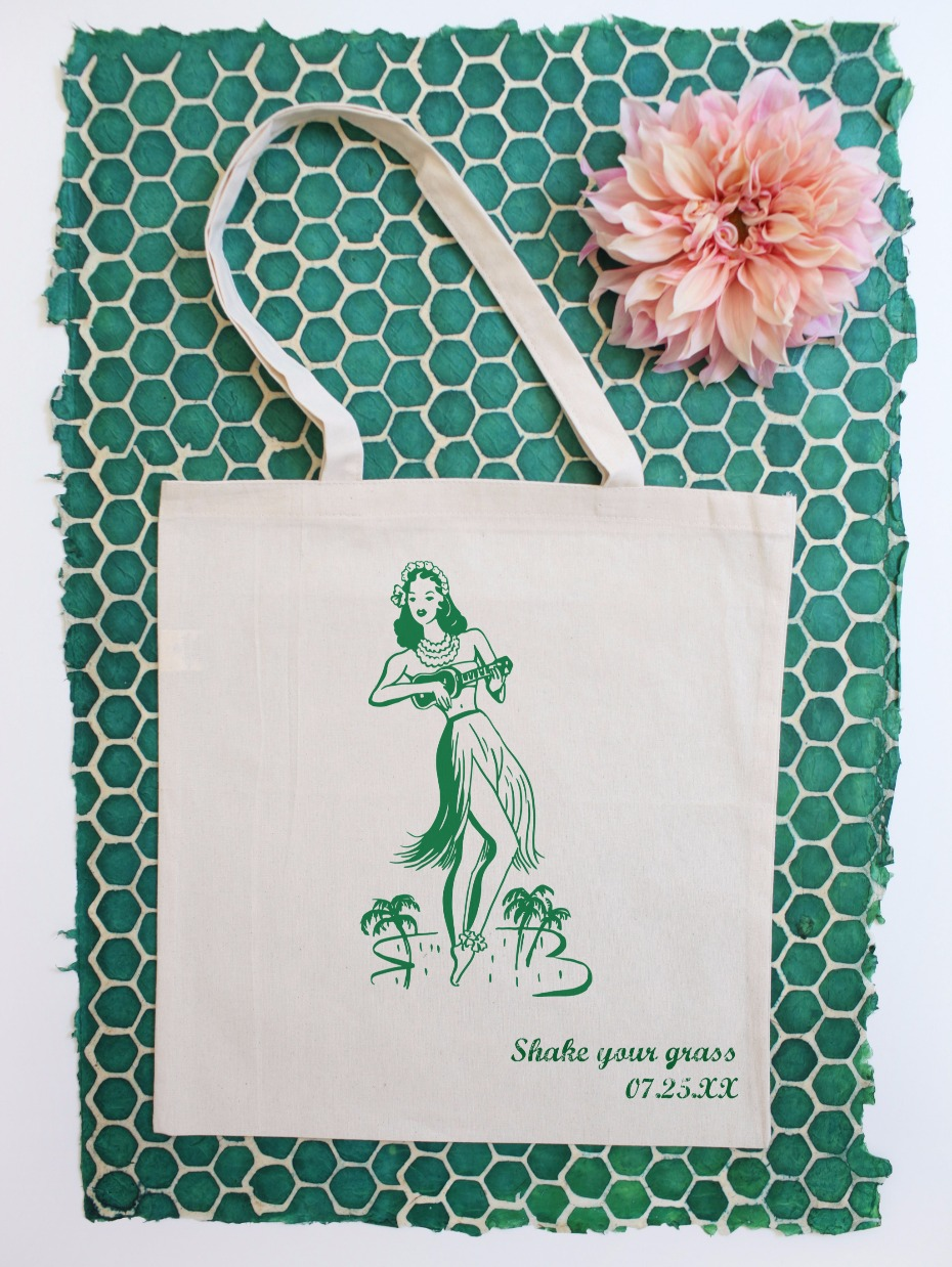 Shake Your Grass Hula Girl Tote