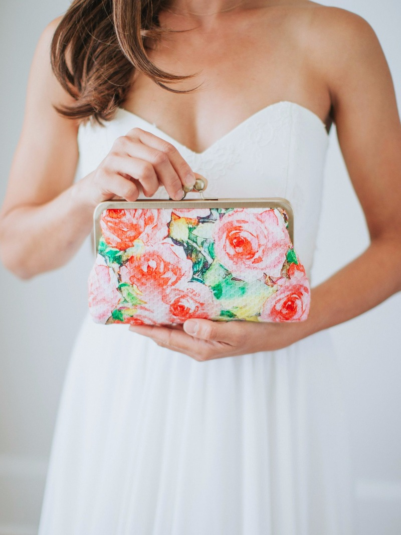 The Isabella Clutch—perfect for spring and summer weddings.